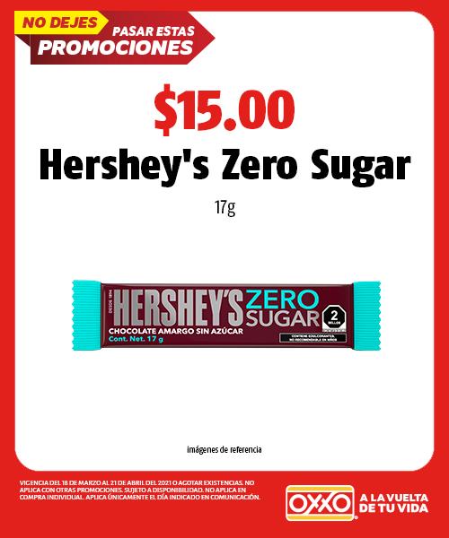 Hersheys Zero Sugar 17gr