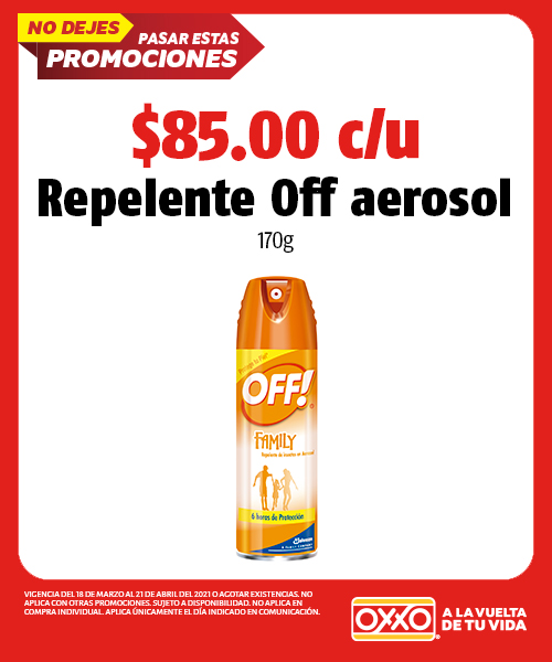 Repelente Off Aerosol 170gr
