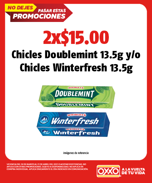 Chicles Doublemint 13.5g