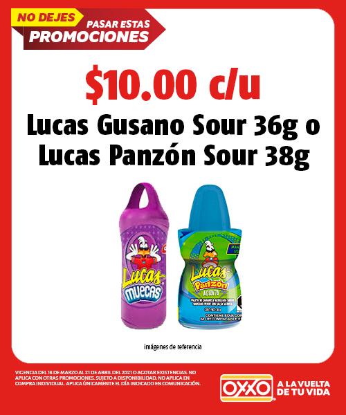 Lucas Gusano Sour 36g