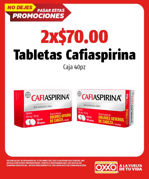 Tabletas Cafiaspirina