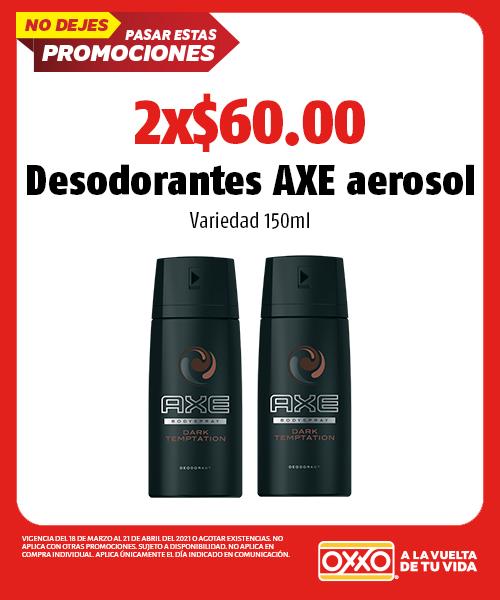 Desodorantes AXE Aerosol Variedad