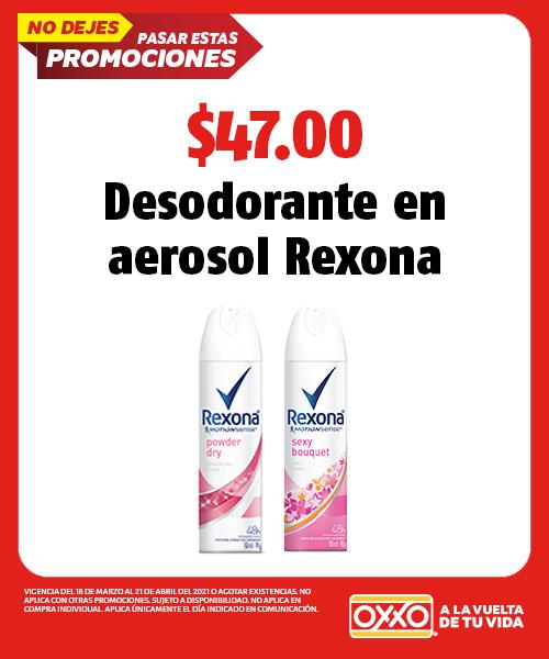 Desodorante en Aerosol Variedad Rexona