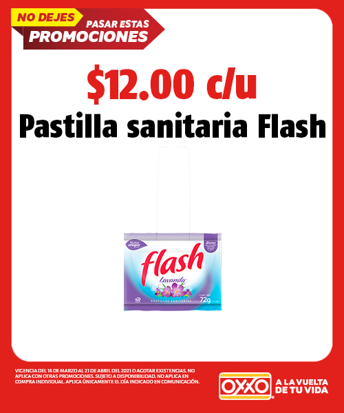 Pastilla Sanitaria Flash