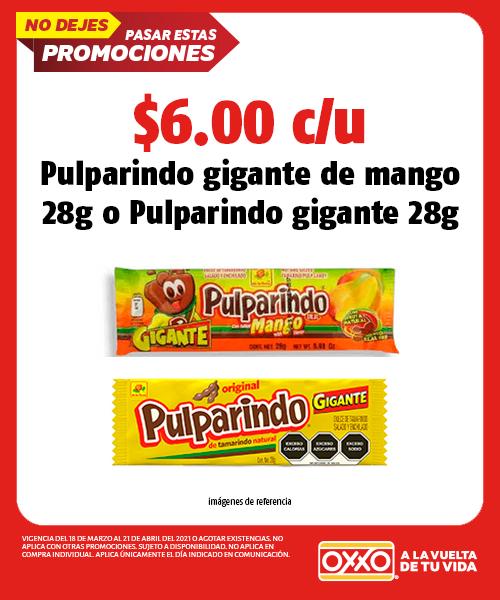 Pulparindo Gigante de Mango 28gr o Pulparindo Gigante 28gr