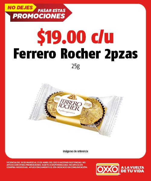 Ferrero Rocher 2pzas 25gr