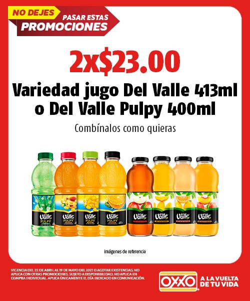 Jugo Del Valle 413 ml  o Del Valle Pulpy 400 ml