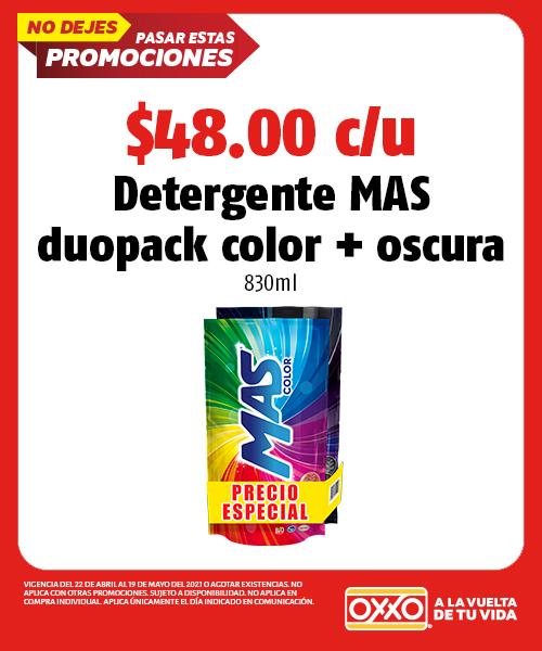 Detergente Mas Duopack Color+Oscura