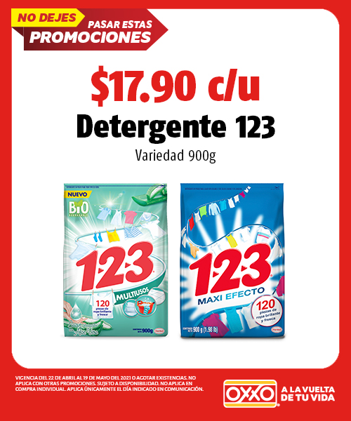 Detergente 123 variedad