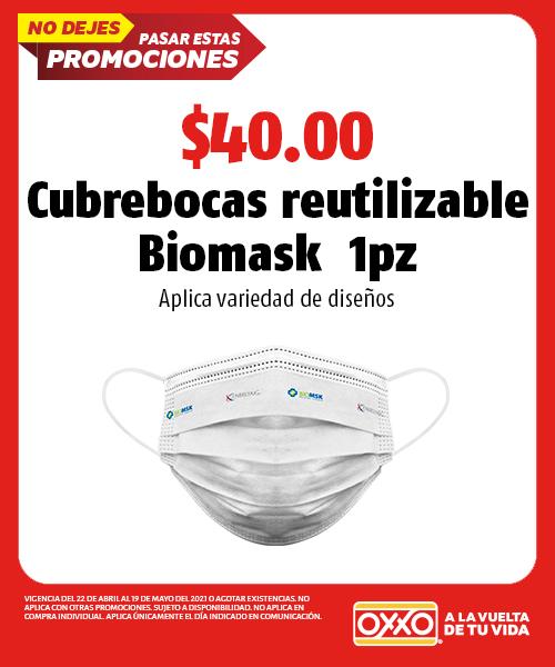 Cubrebocas Reutilizable Biomask