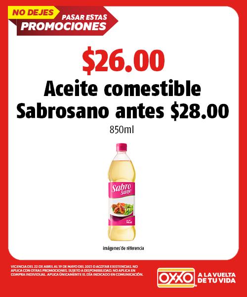 $28.00 Aceite comestible