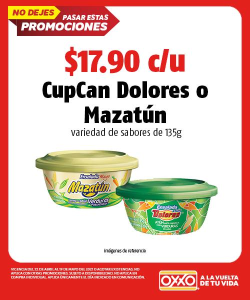 CupCan Dolores o Mazatun de 135gr
