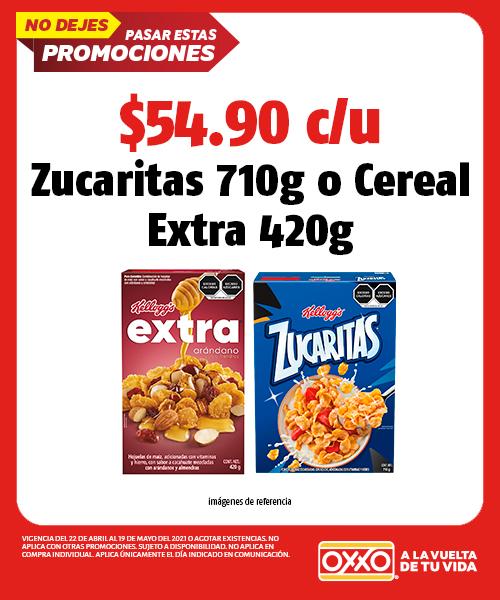 Zucaritas 710gr o Cereal Extra 420gr