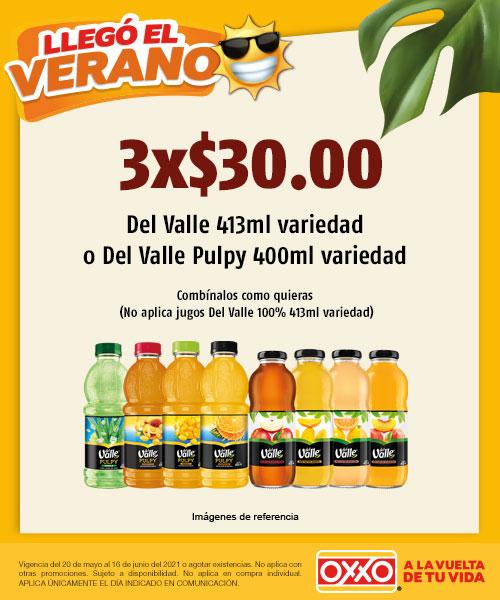 Del Valle 413 ml Variedad o Del Valle Pulpy 400 ml Variedad
