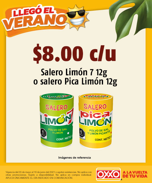 Salero Limon 7 12g o Salero Pica Limon 12g