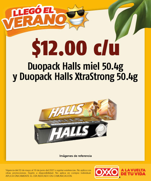 Duopack Halls Miel 50.4g y Duopack Halls XtraStrong 50.4g