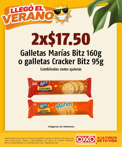 Galletas Marías Bitz 160gr o Galletas Cracker Bitz 95gr