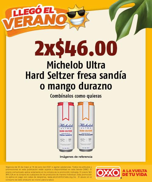 Michelob Ultra Hard Seltzer Fresa Sandia o Mango Durazno
