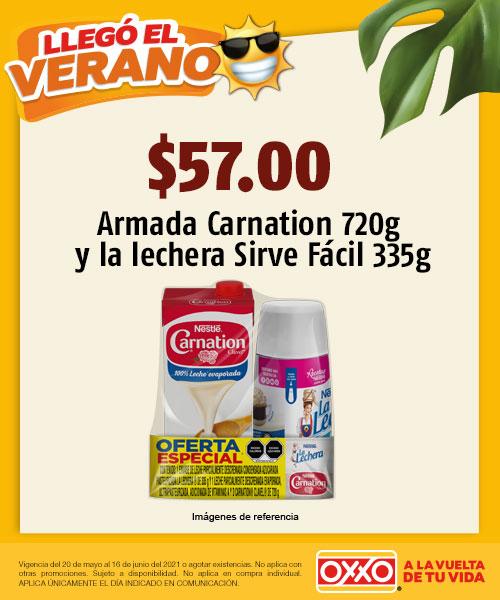 Armada Carnation 720gr  la lechera Sirve Facil