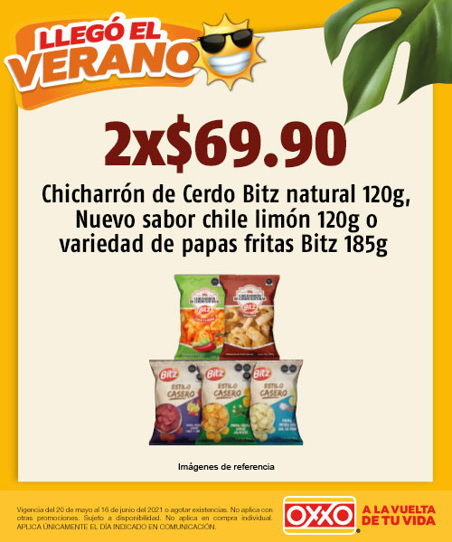 Chicharrón de Cerdo Bitz 120g Natural, Nuevo Sabor Chile Limón 120g o