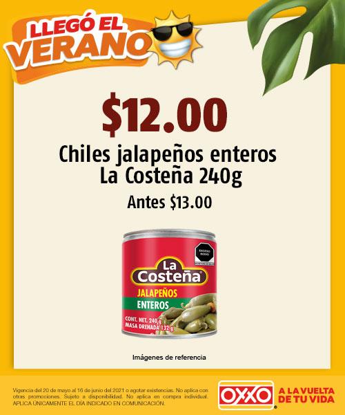 De $13.00 Chiles Jalapeños