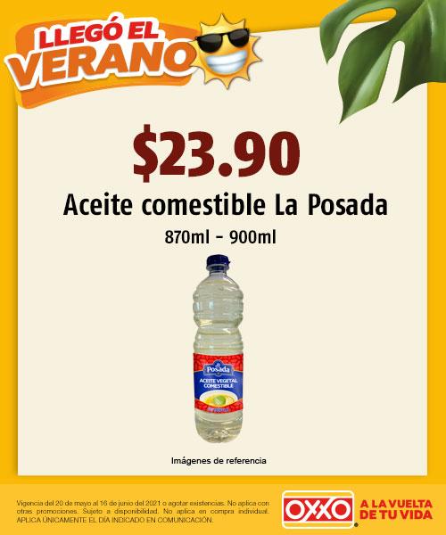 Aceite comestible La Posada 870 900ml a solo $23.90