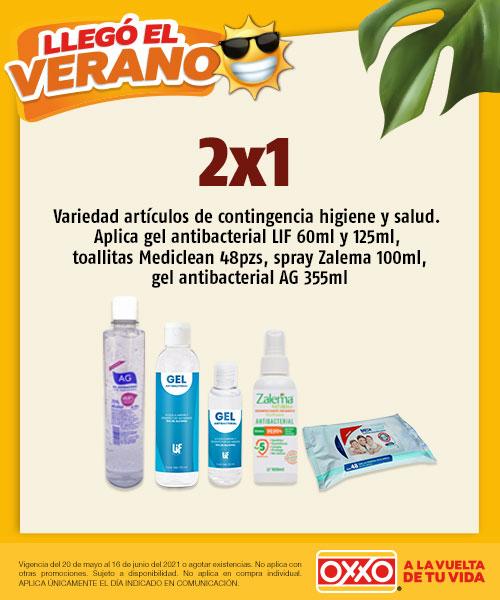 Promocion 2x1 Variedad artículos de Contingencia Higiene y Salud Aplica Gel antibacterial LIF 60ml y 125ml,