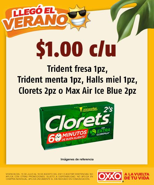 Tridents Fresa, Tridents Menta, Halls Clorets o Max Air Ice Blue