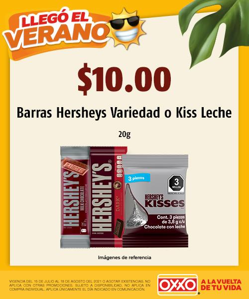 Barras Hersheys Variedad o Kiss Leche